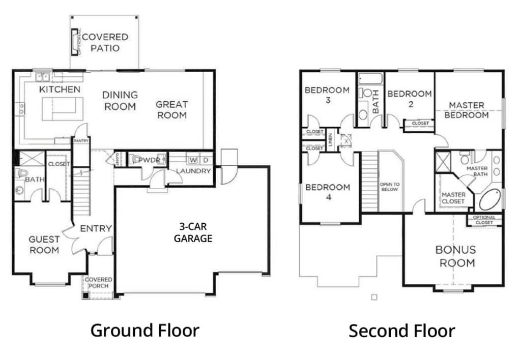 Church-Lake-Sterling-Floorplan-2603-3-Car-guest-suite-labels