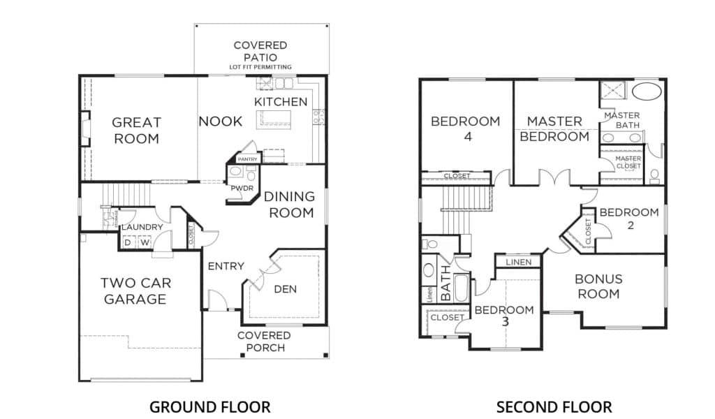 2978 Teton 2-car Orting Floorplan