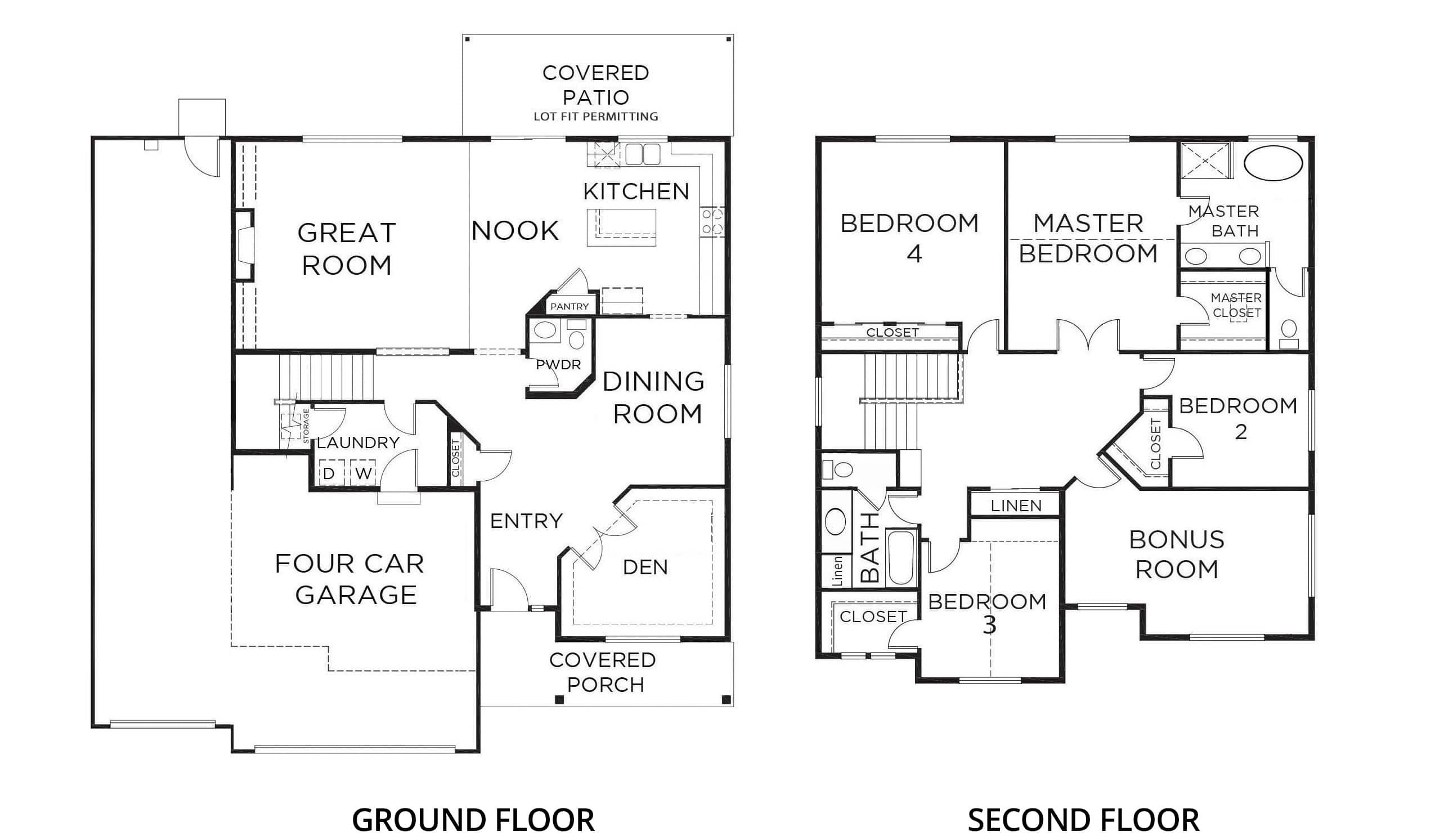 2978 Teton 4-car Orting Floorplan