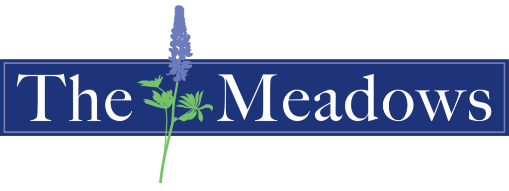 The Meadows at Orting logo white